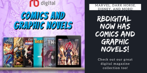 RBDigital now has comics and graphic novels from Marvel, Dark Horse, Disney, and more