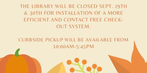 Library Closed Sept. 29 & 30